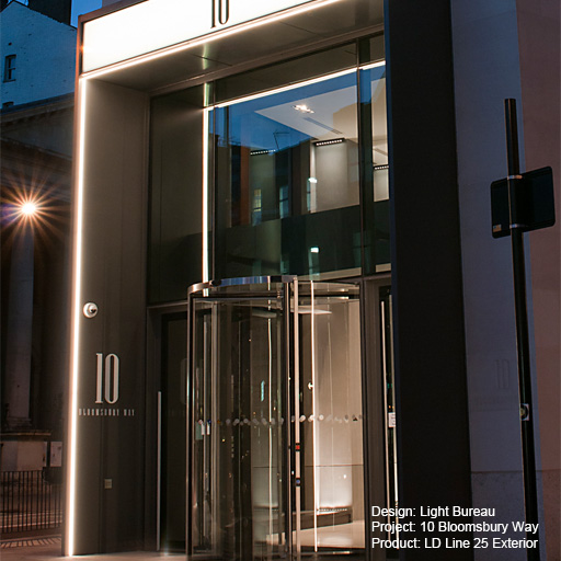 10 Bloomsbury Way, London Lightgraphix Creative Lighting Solutions