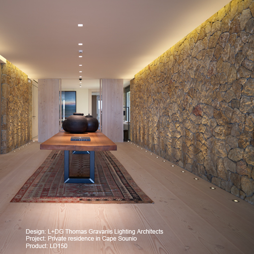Private residence in Cape Sounio Lightgraphix Creative Lighting Solutions