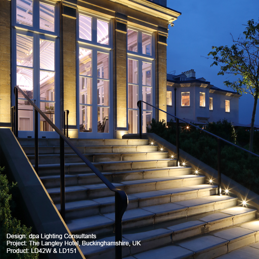 The Langley Hotel, Buckinghamshire, UK Lightgraphix Creative Lighting Solutions